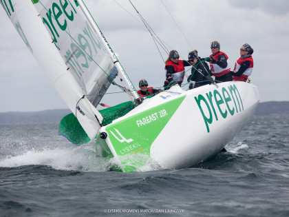 Challenging practise sailing in Lysekil
